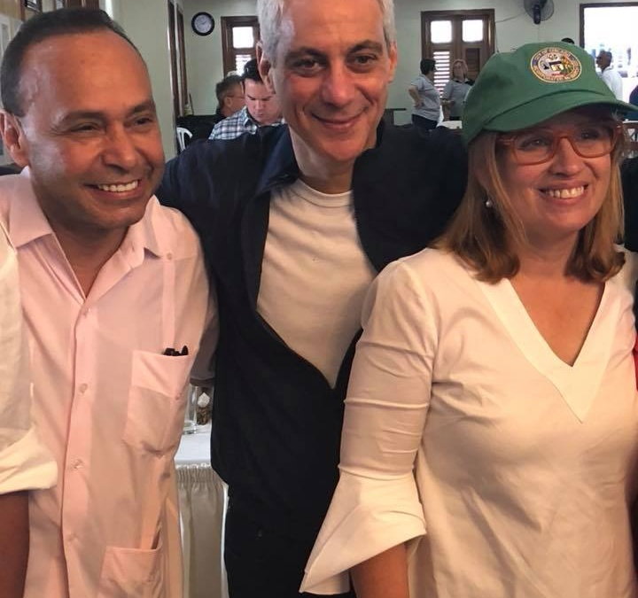 CHICAGO REMEMBERS PUERTO RICO 6 MONTHS AFTER MARÍA: PUERTO RICAN AGENDA,  RAHM EMANUEL & LUIS V. GUTIERREZ DELIVERED 5200 LBS SUPPLIES AND  $43K AID TO ISLAND
