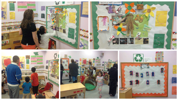 Recycling work at Centro Infantil