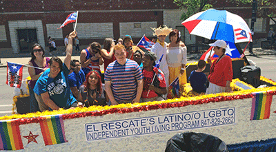 El Rescate Youth and Staff Represent at People's Parade!