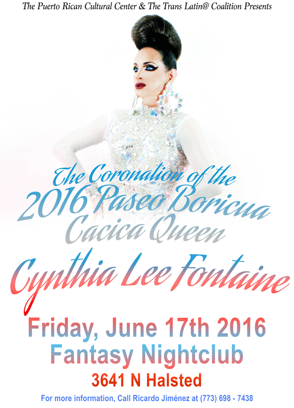 SAVE THE DATE Cacica Coronation of Paseo Boricua 2016